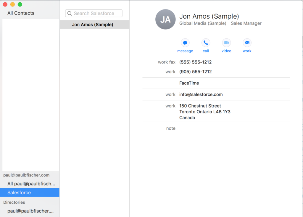 How to get Salesforce Contacts into your iPhone with
